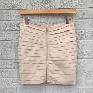 Audrey 3+1 Front Zip Body con Mini Skirt